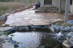 Stone Patio & Waterfall